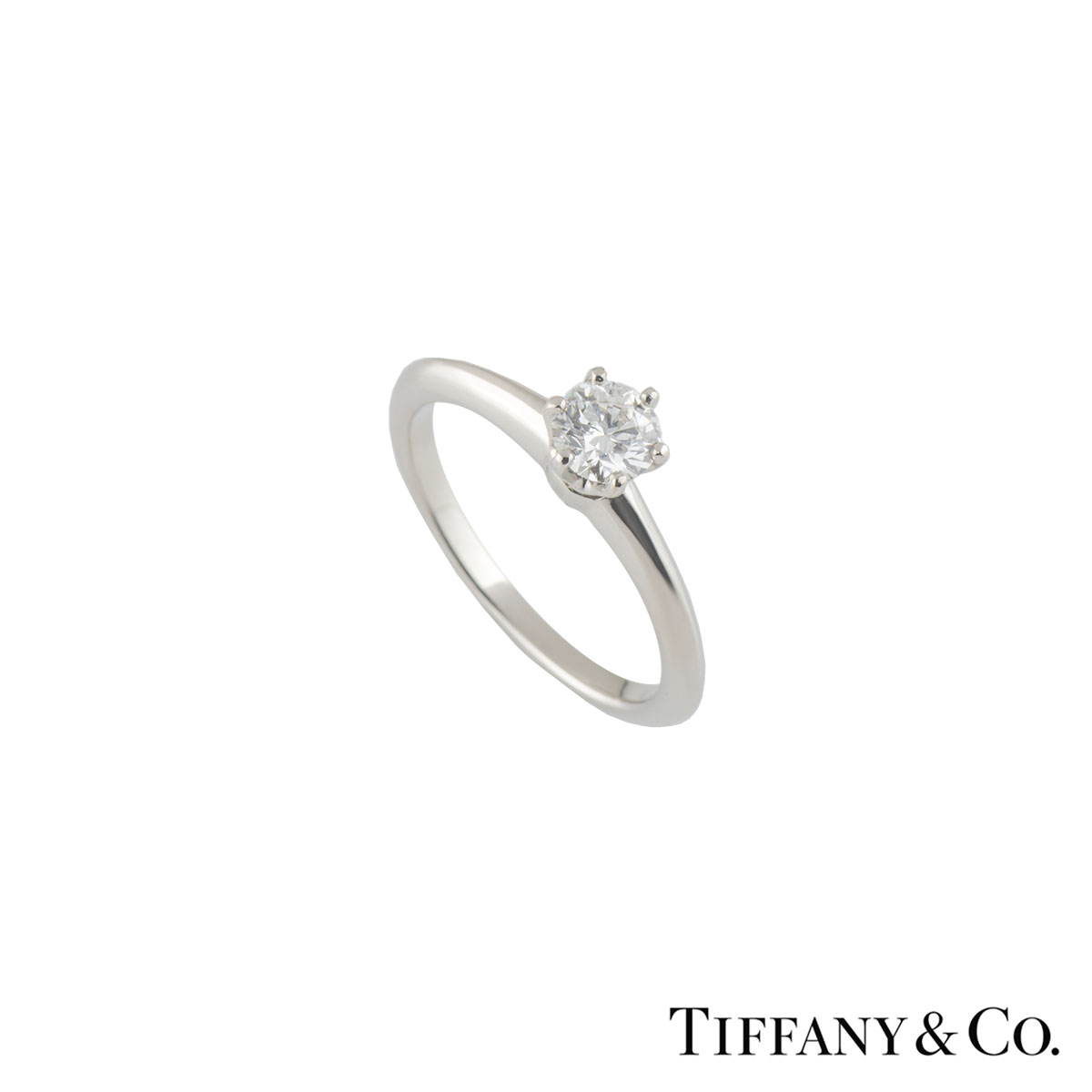 Tiffany & Co. Setting Diamond Ring 0.41ct D/VS1